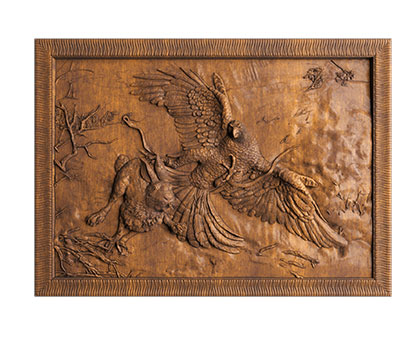 Panel eagle hunting, 3d models (stl)