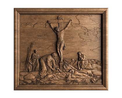 Bas-relief of Calvary, 3d models (stl)