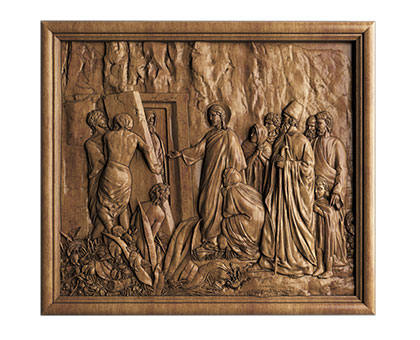 Panel Resurrection of the righteous Lazarus, 3d models (stl)