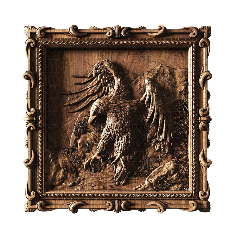Panel with an eagle, 3d models (stl)