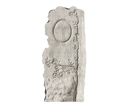Tombstone with a plant pattern, 3d models (stl)