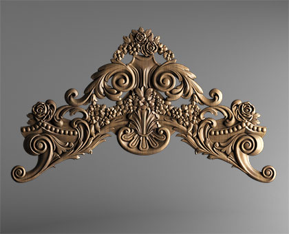 Carved platband (capital) for the door, 3d models (stl)