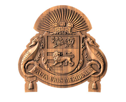 The coat of arms of the city of Yalta, 3D, 3d models (stl)