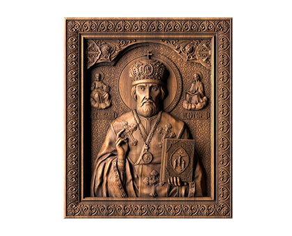 Icon St. Nicholas the Miracle Worker, 3d models (stl)
