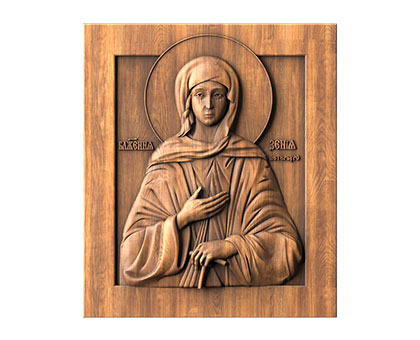 Icon Blessed Xenia of Petersburg, 3d models (stl)