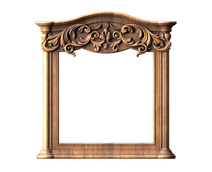 Rectangular frame, 3d models (stl)