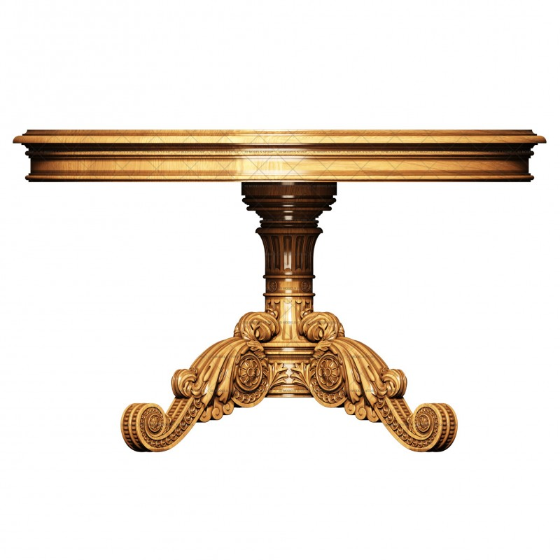 Carved table, 3d models (stl)