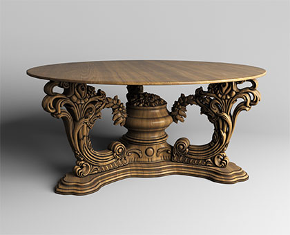 Table with carved legs, 3d models (stl)