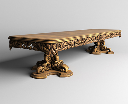 Long table, 3d models (stl)