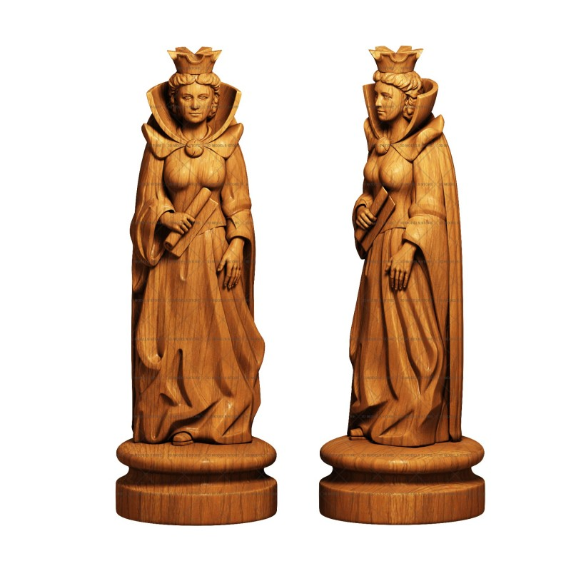 Chess queen - 3d (stl) model, 3d models (stl)