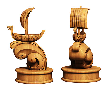 Chess pawn - 3d (stl) model, 3d models (stl)