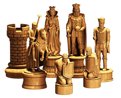 Designer chess set - 3d (stl) model, 3d models (stl)