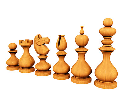 Staunton chess set, 3d models (stl)