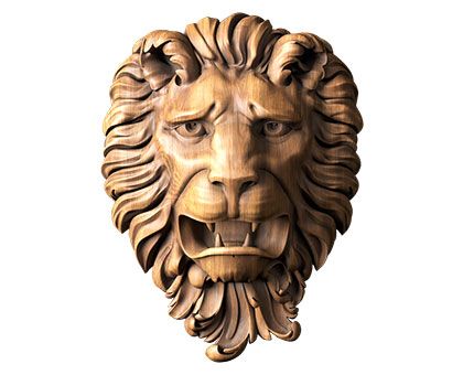 Mascarone lion, 3d models (stl)