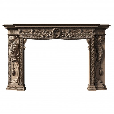 Portal for the fireplace, 3d models (stl)