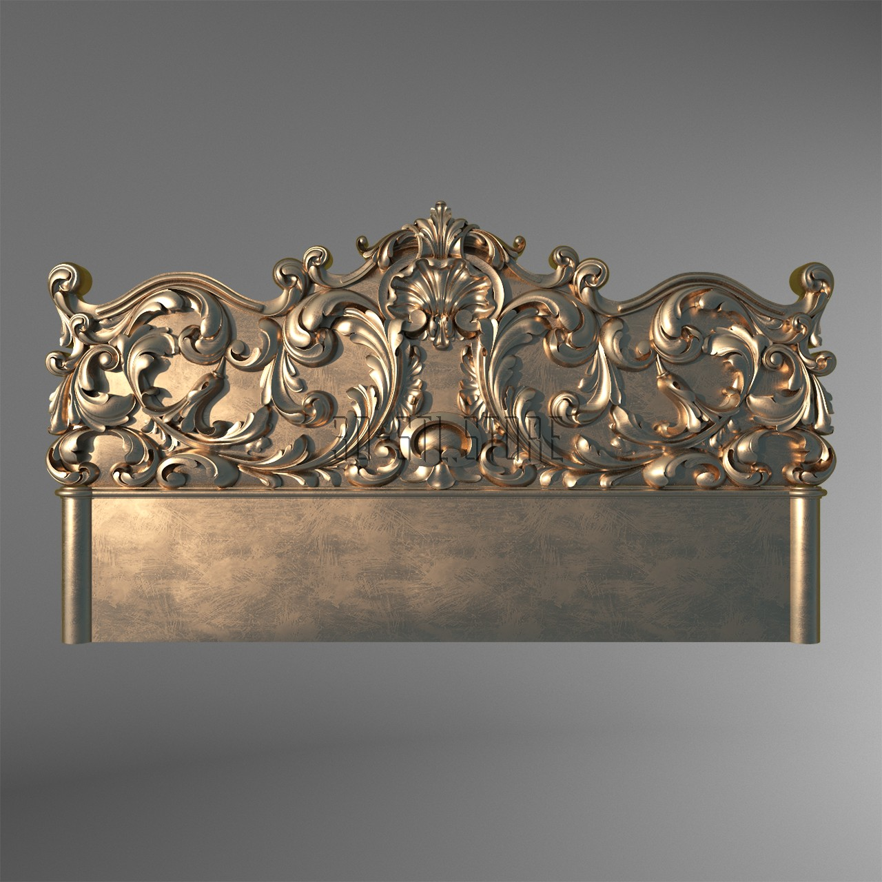 Carved headboarde, 3d models (stl)