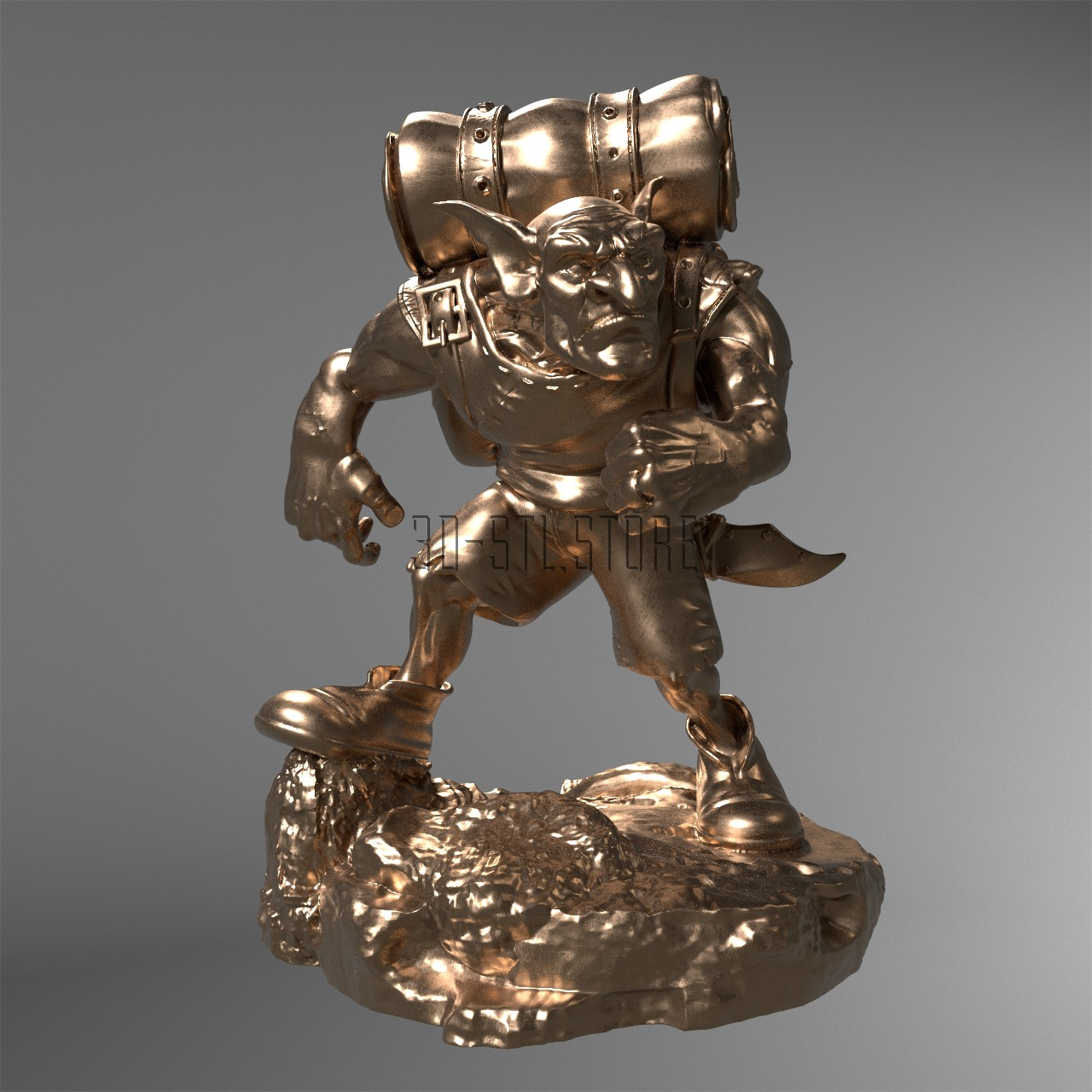 Sculpture Troll, 3d models (stl)