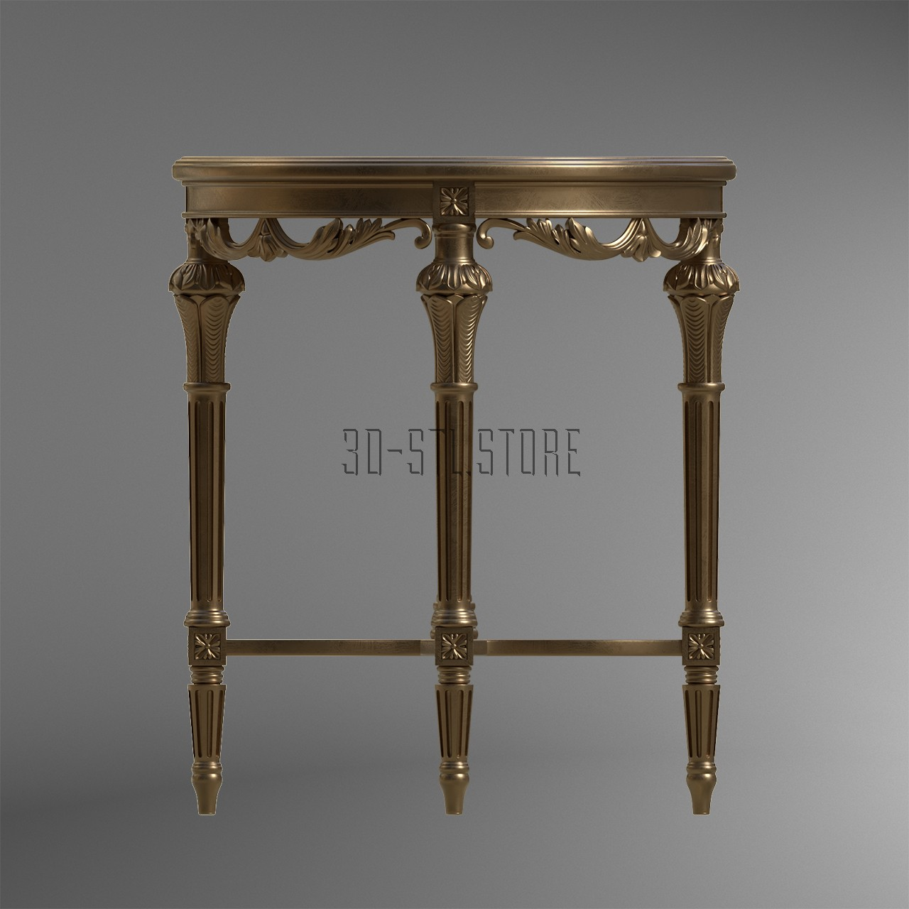 Table with thin legs, 3d models (stl)
