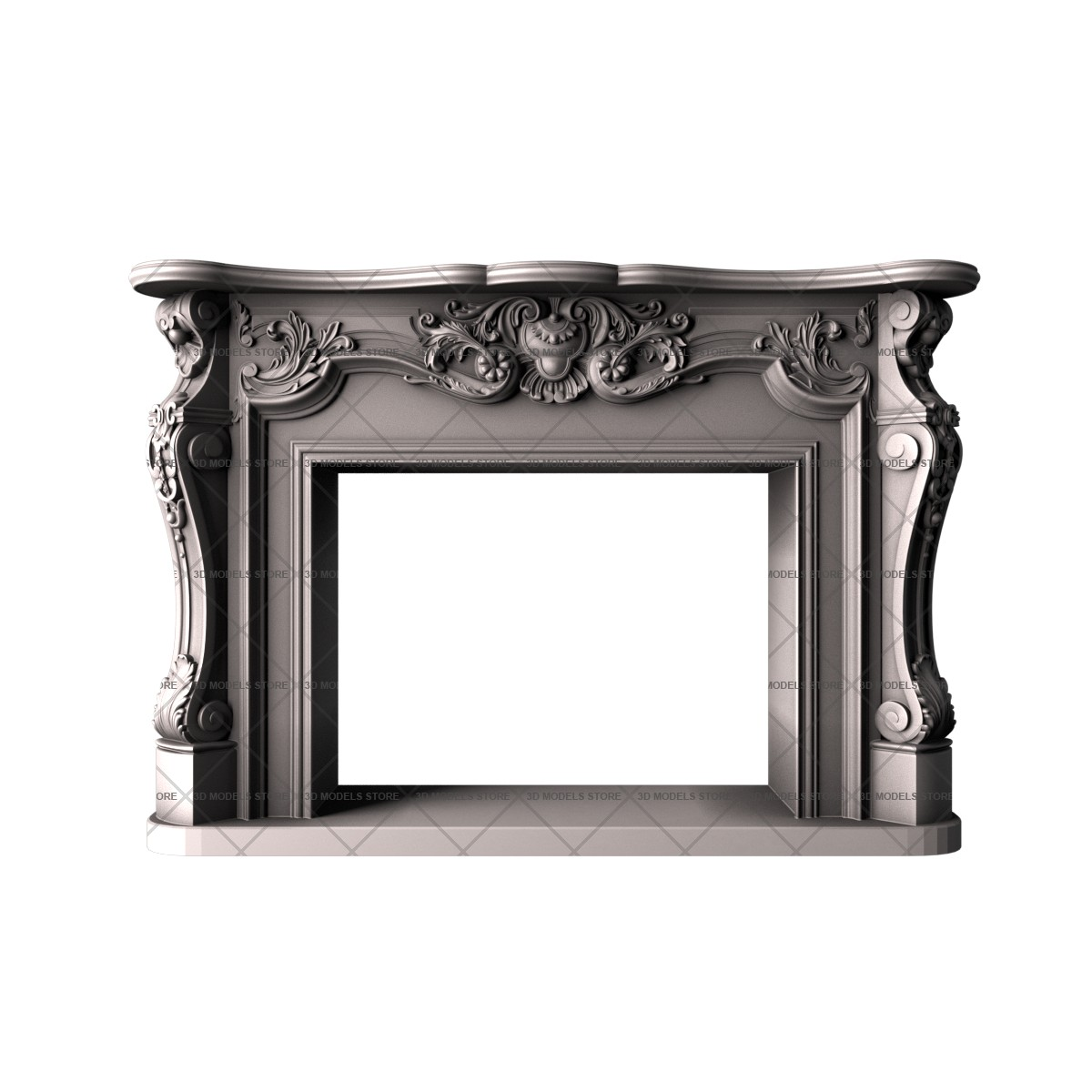 Fireplace, 3d models (stl)