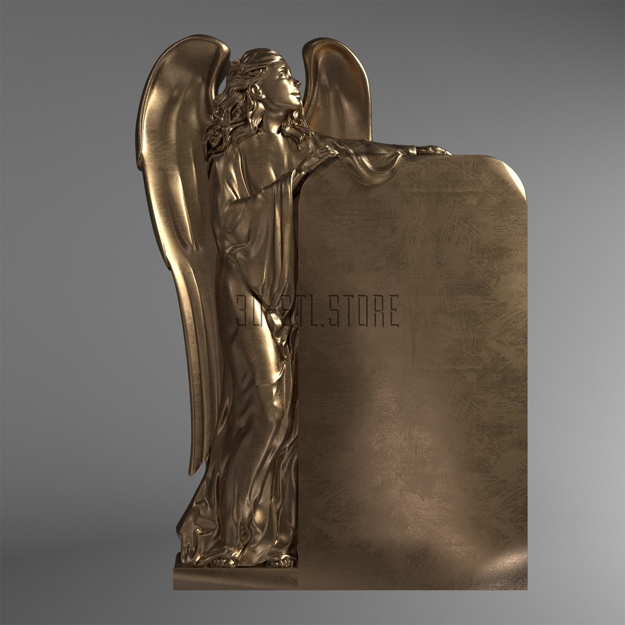 Memorial with an angel, 3d models (stl)