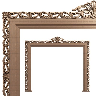 Frame for TV, 3d models (stl)